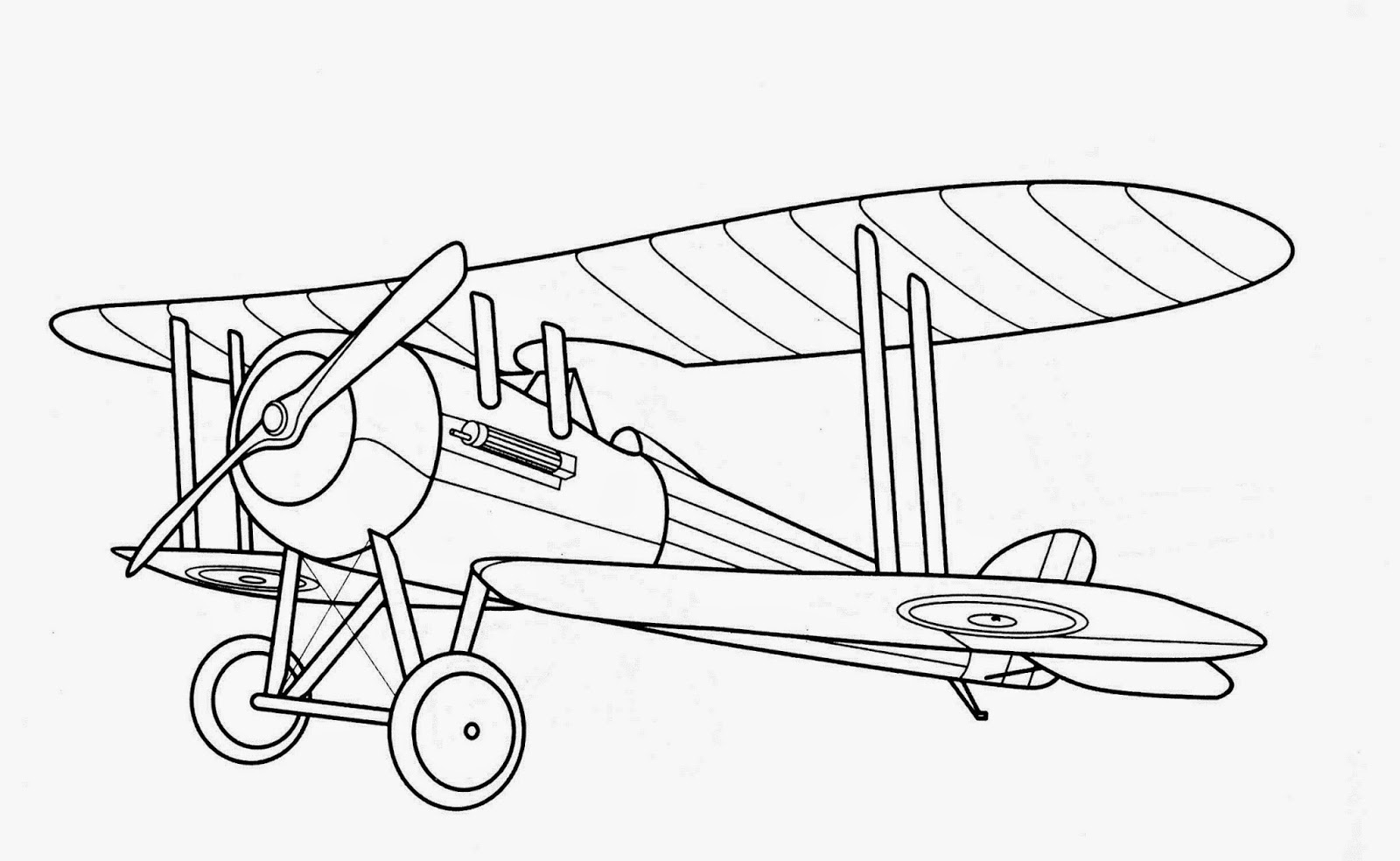 Biplane Coloring Pages