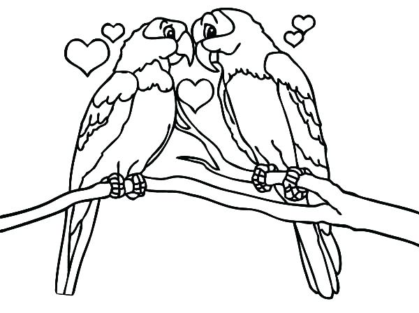 600x448 Coloring Page Of A Bird Love Is All Around Birds Coloring Pages
