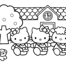 220x220 Hello Kitty And A Birdcage Coloring Pages