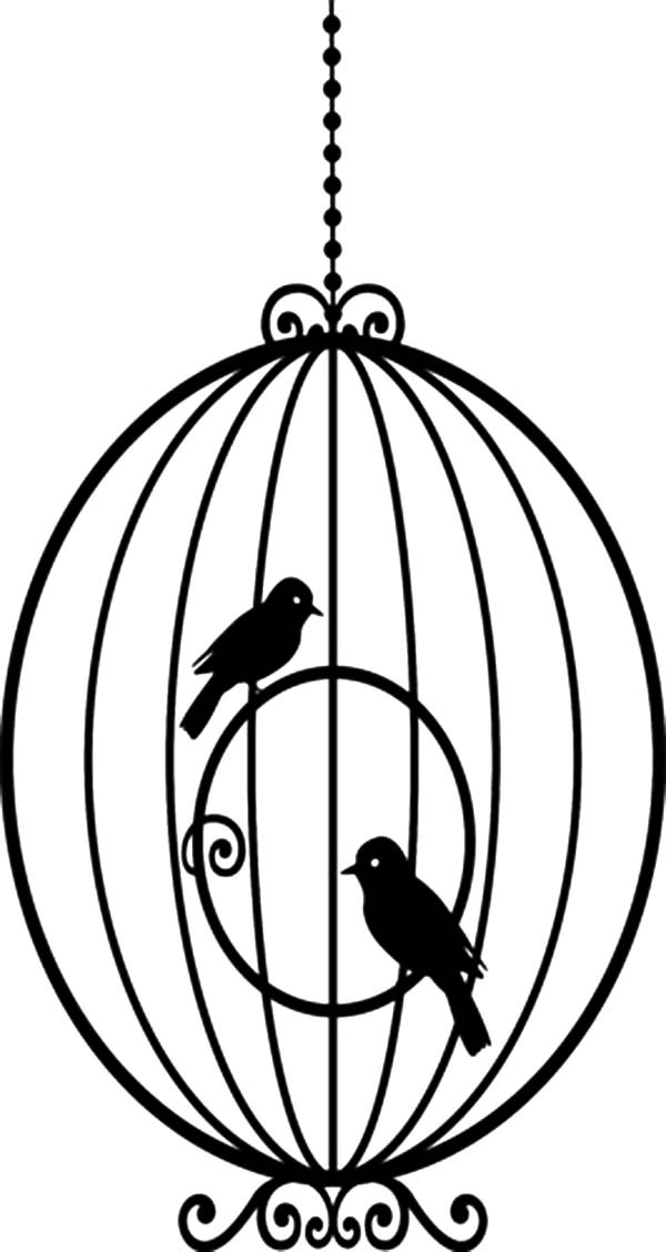 600x1128 Awesome Round Bird Cage Coloring Pages Best Place To Color