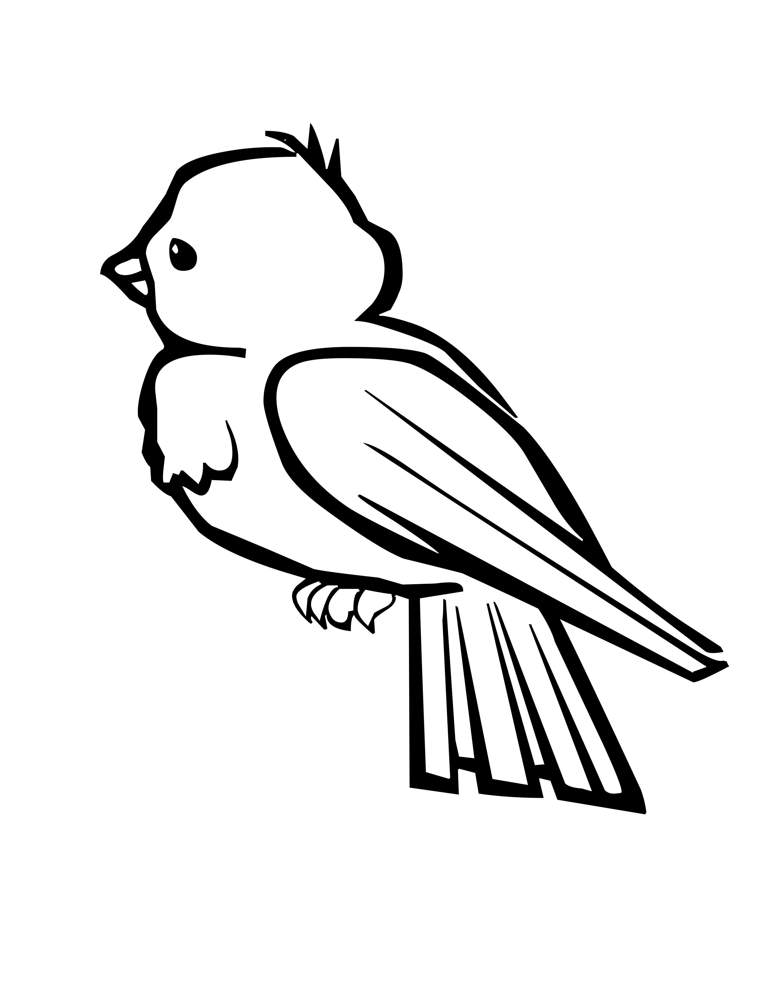 2550x3300 Bird Cage Coloring Pages