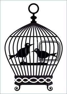 236x333 Bird Gathering In One Big Bird Cage Coloring Pages Bird Gathering