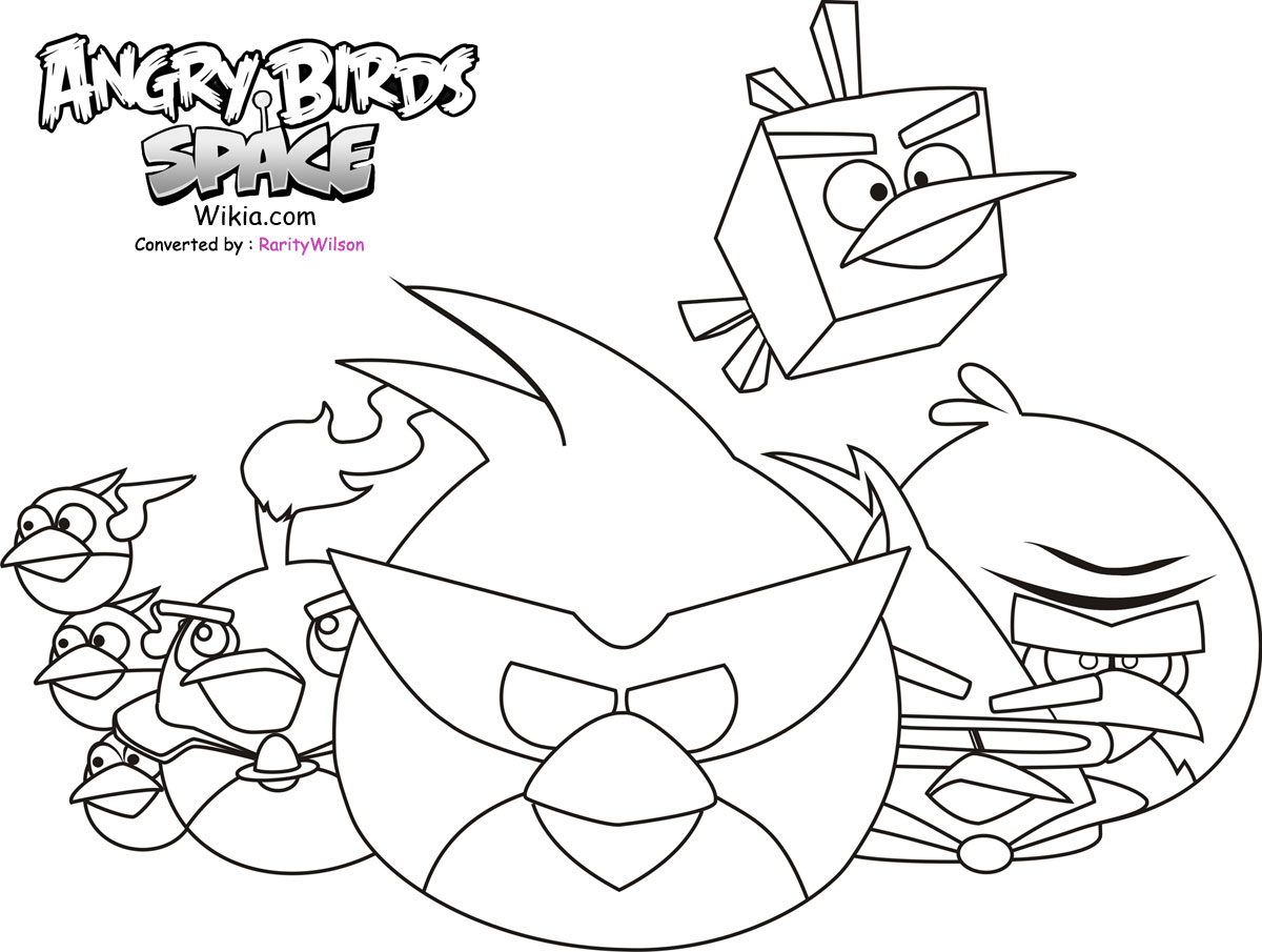 Bird Cartoon Coloring Pages