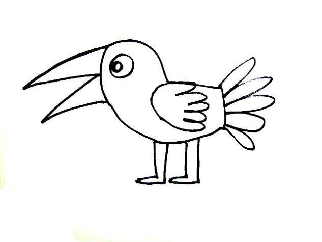 633x475 Cartoon Birds Coloring Pages