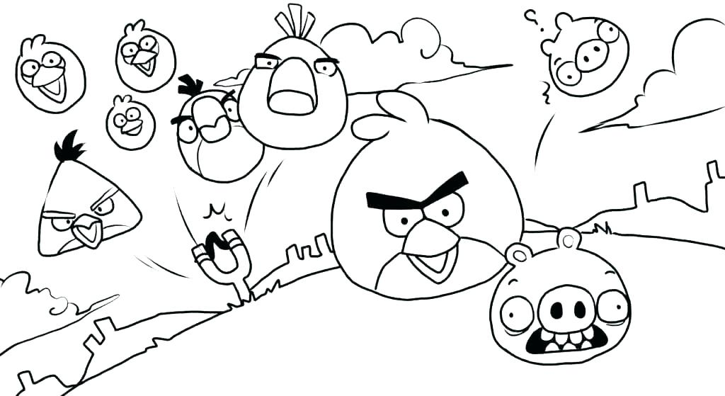 1024x559 Coloring Page Bird Angry Birds Colouring Pages To Print Angry Bird