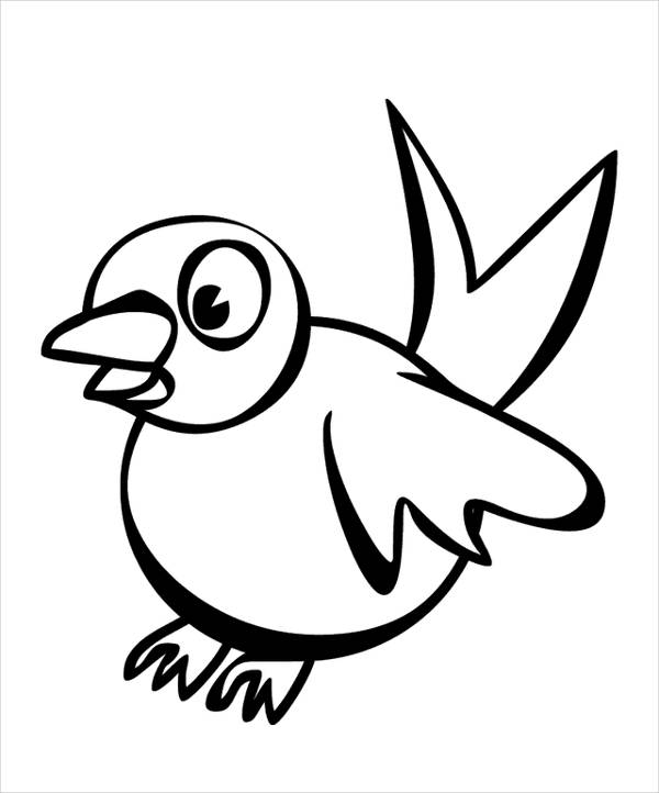 600x722 Coloring Pages Of Cartoon Goose
