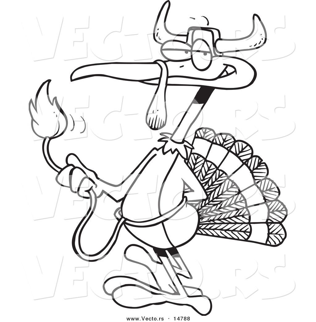 1024x1044 Vector Of A Cartoon Turkey Bird Disguised As A Bull