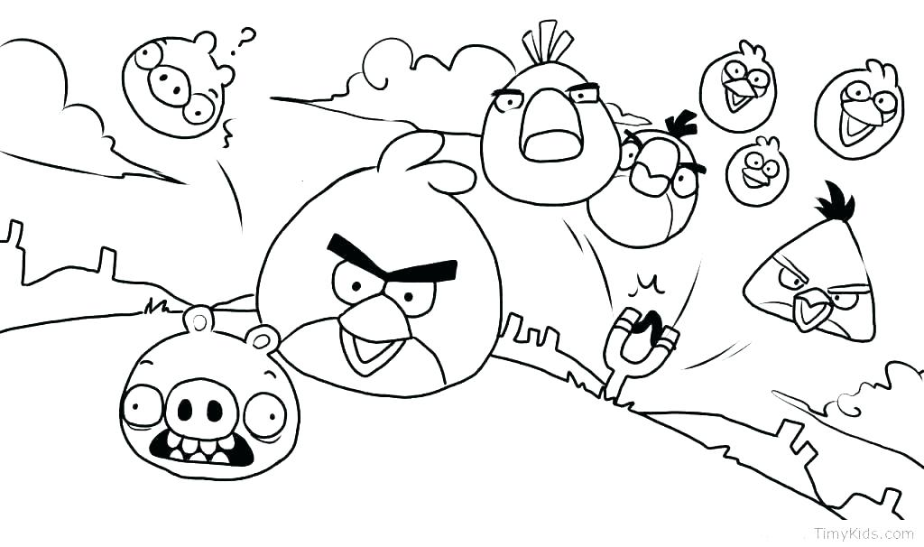 1024x606 Angry Bird Coloring Pages Images Icontent