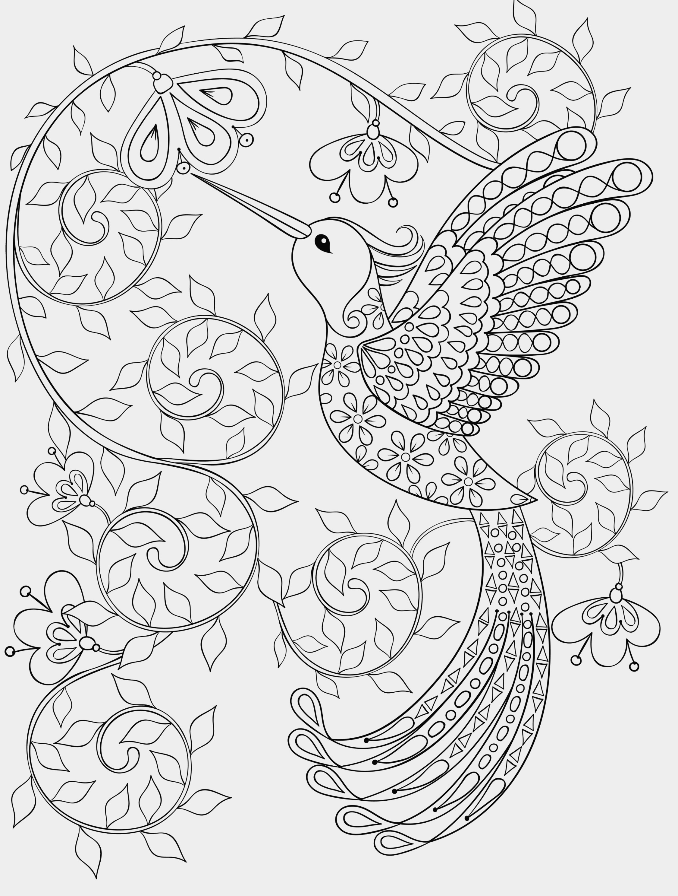 2250x2970 Inspiration Lovely Bird Coloring Pages For Adults Coloring Pages