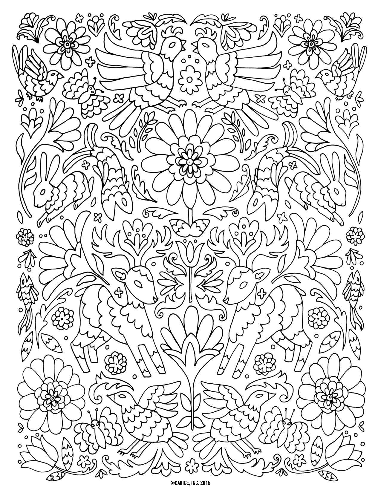 1275x1650 Inspiration Peace Birds Adult Coloring Pages Printable Adult
