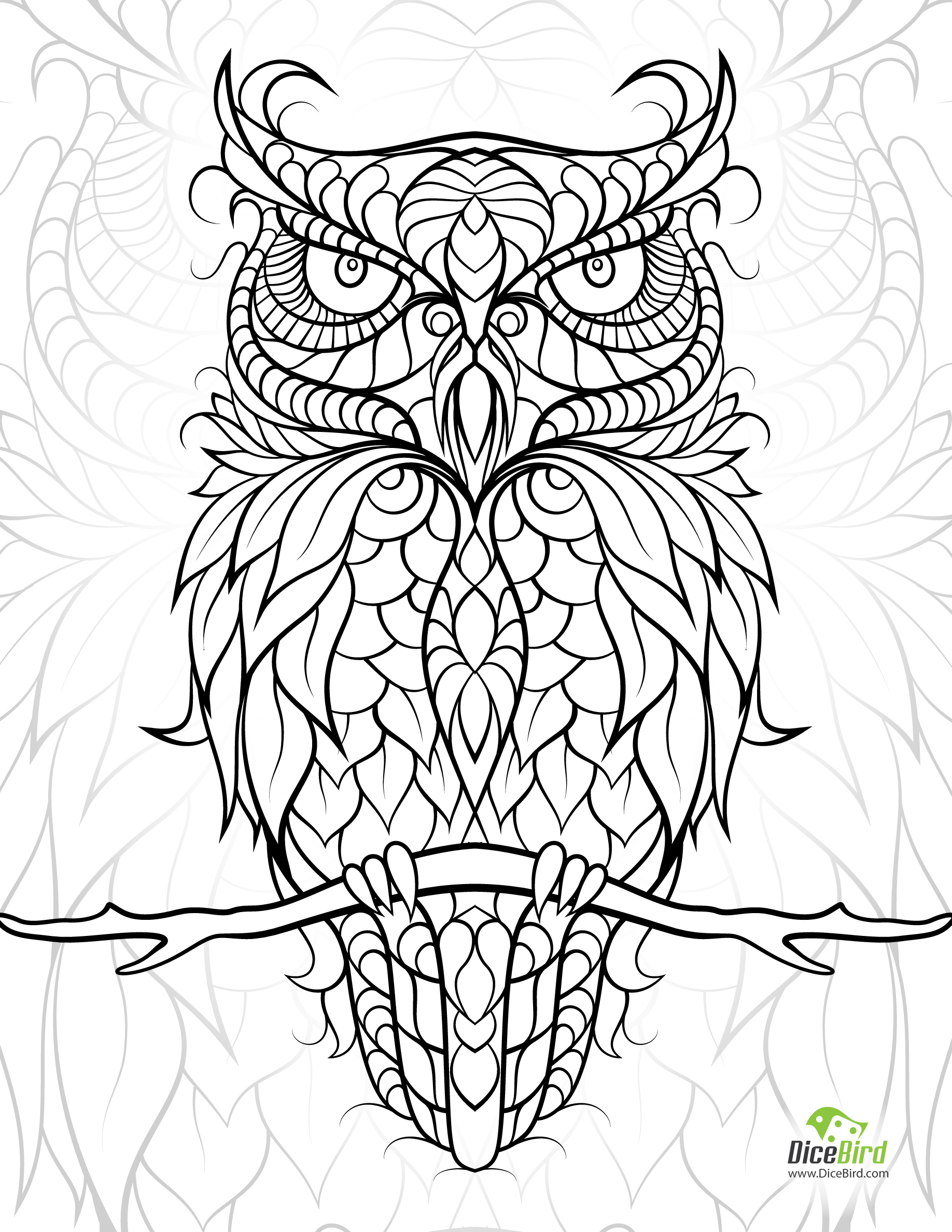 1836x2376 Adult Coloring Pages Birds Color Bros