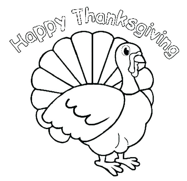 600x583 Turkey Bird Coloring Pages Professional