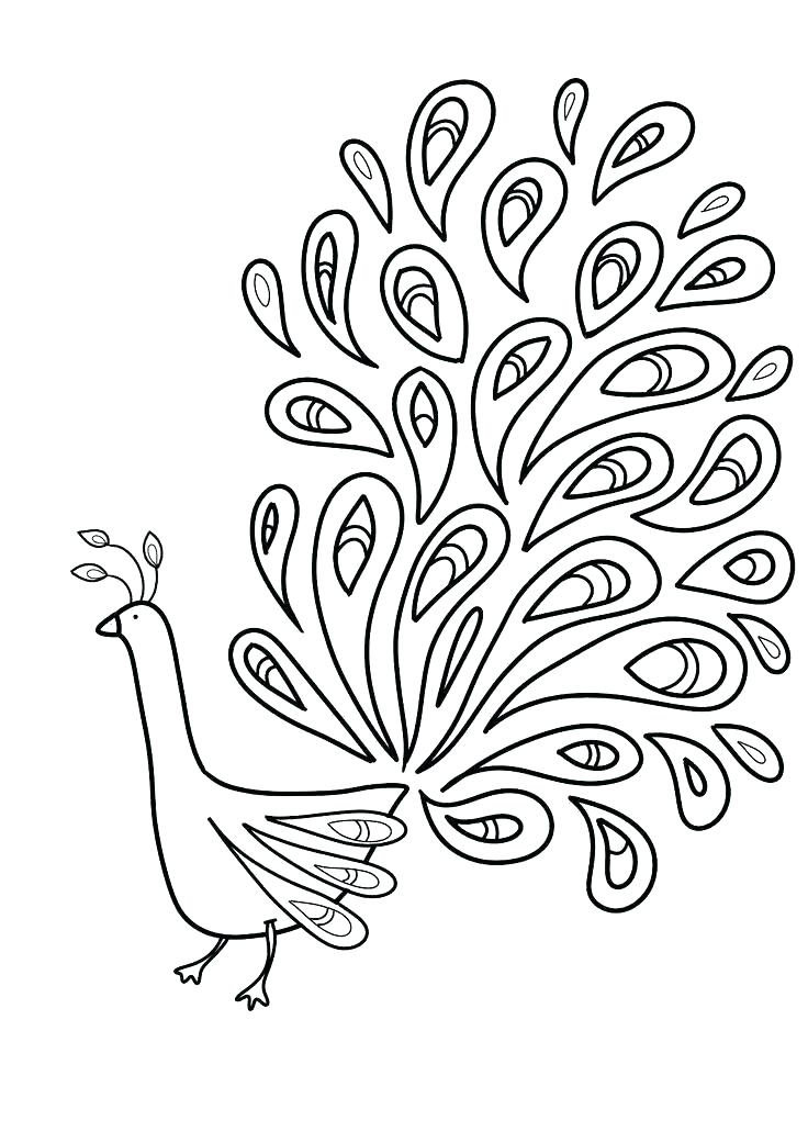 736x1041 Feather Coloring Page
