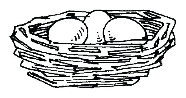 600x316 Bird Nest Coloring Page Bird Nest Coloring Page Bird Nest Eggs