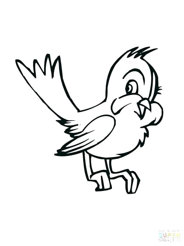 618x824 Bird Nest Coloring Page Printable Bird Coloring Pages Free