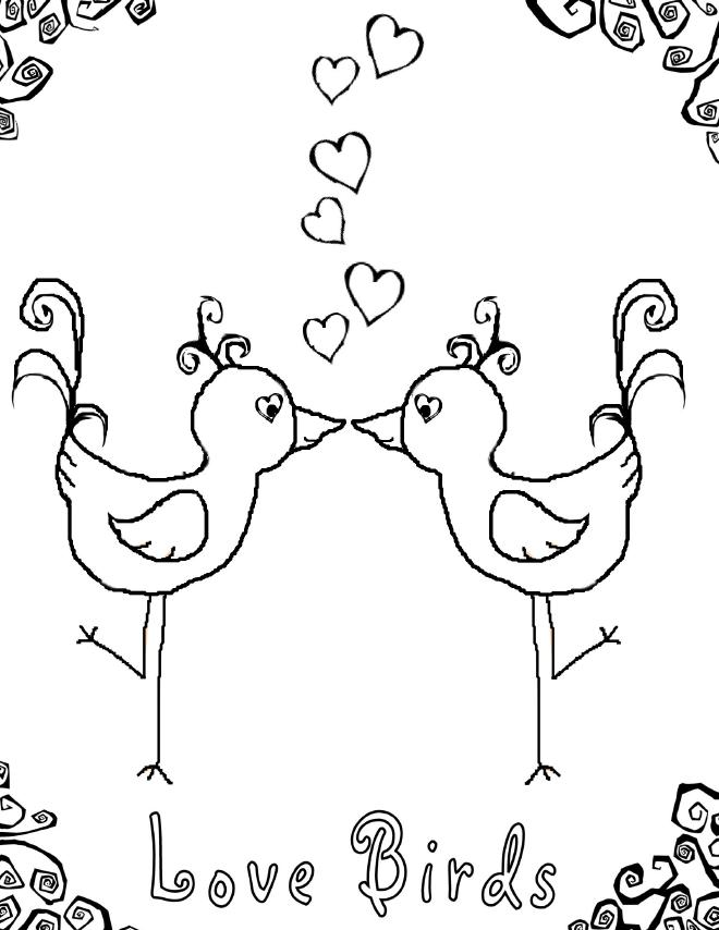 660x854 Best Coloring Page Dog Birds Love Coloring Pages And Sheets