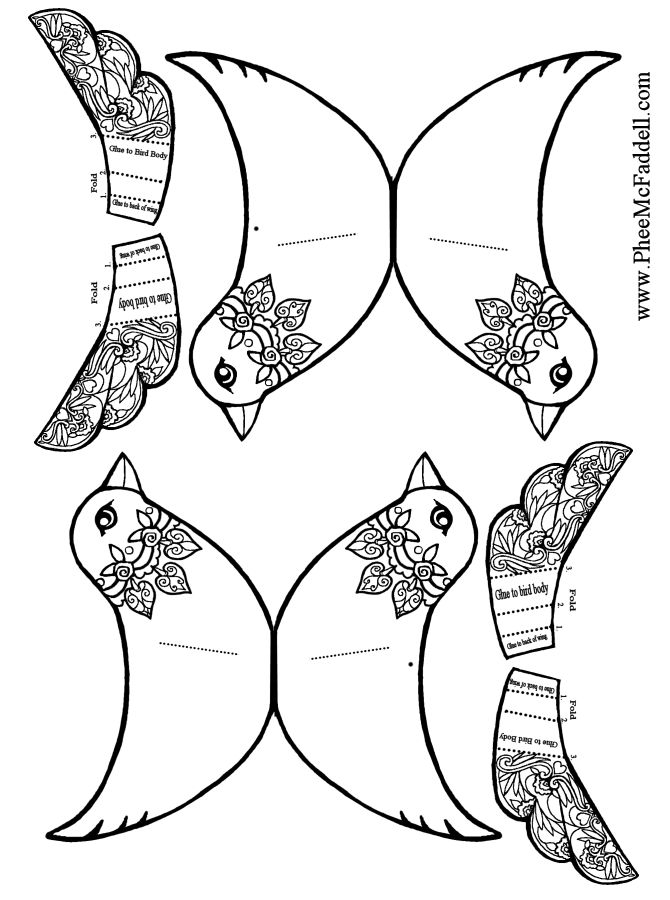 Bird Wings Coloring Pages