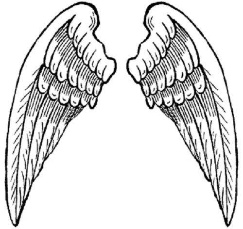 500x472 Heart With Angel Wings Coloring Pages Ink Metal
