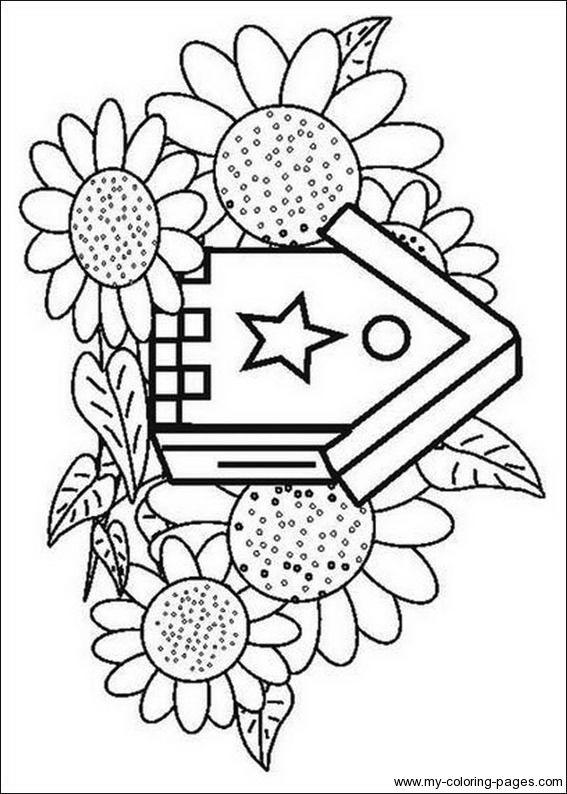 567x794 Birdhouse Coloring Pages Applique Quilts