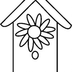 234x234 Birdhouse Coloring Pages Printable