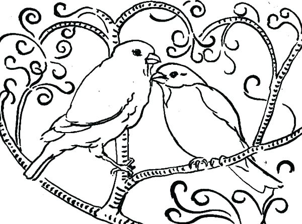 600x446 Coloring Page Birds Birdhouse Coloring Pages