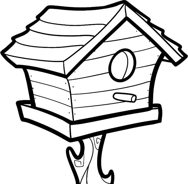 600x587 Big Bird House Coloring Pages Best Place To Color
