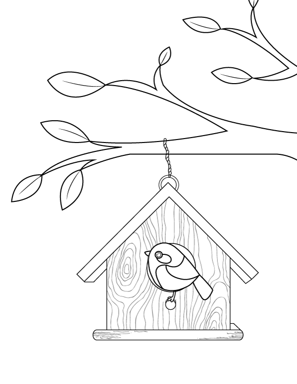 59 Best Birdhouse Coloring Pages for Kids - Updated 2018 ... | 776x600