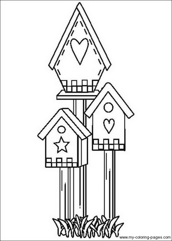 567x794 Bird Houses To Color Birdhouse Coloring Pages Crafts