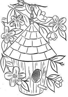 236x339 Free Birdhouse Coloring Page
