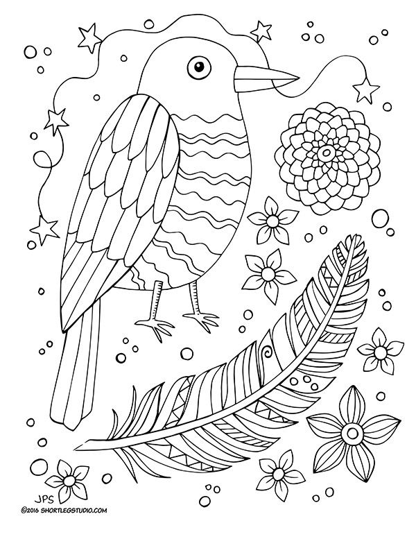 600x777 Flora And Fauna Coloring Sheets Short Leg Studio