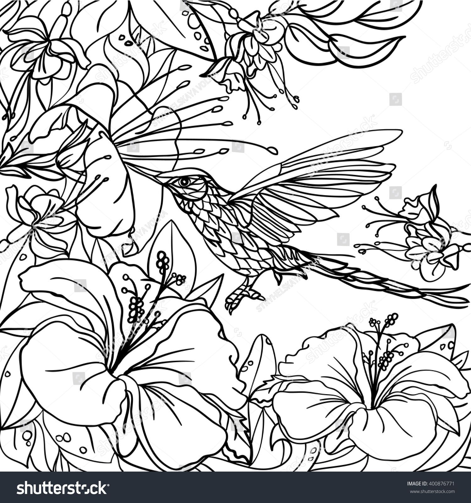 1499x1600 Shocking Coloring Pages Tropical Birds Leaves Stock Vector Pict