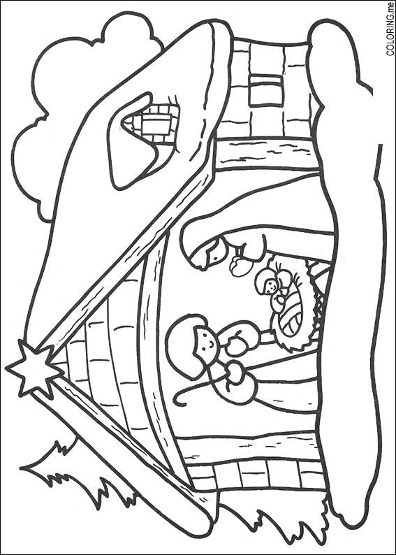 567x794 Coloring Page Christmas Jesus Born
