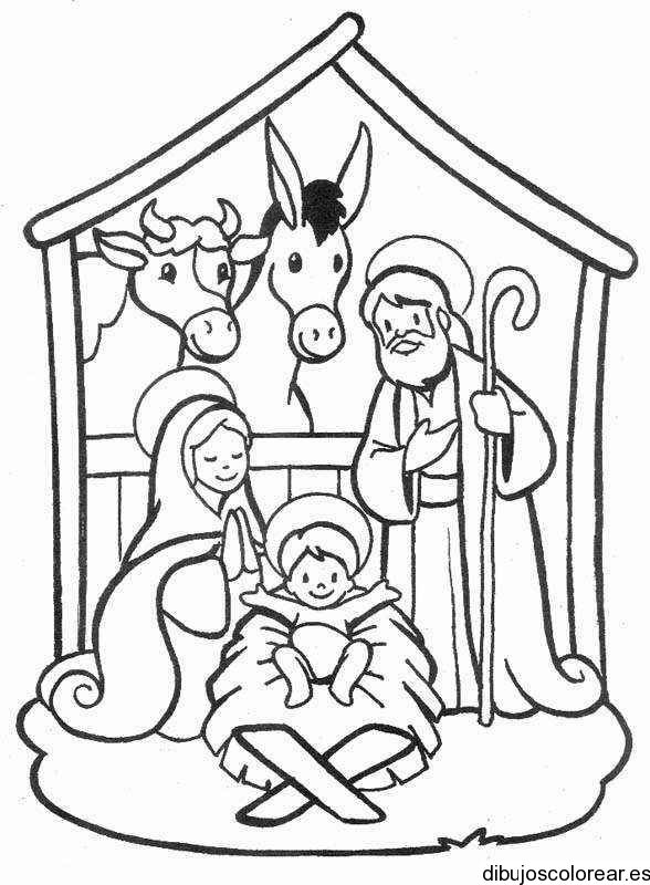Birth Of Jesus Coloring Page At Getdrawings Free Download