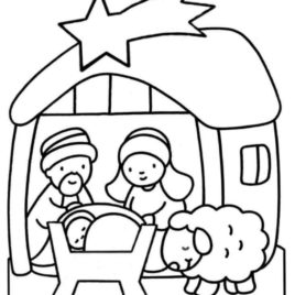 268x268 Jesus Birth Coloring Page Az Coloring Pages Coloring Pages