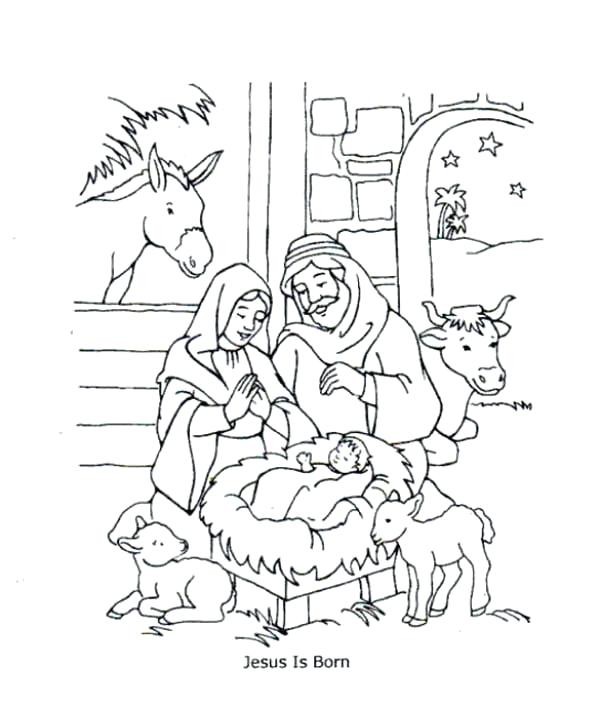 600x707 Jesus Coloring Page Gallery Of Birth Of Coloring Pages Free Baby