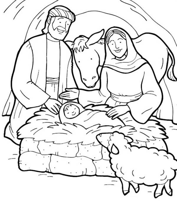 600x680 Jesus Is Born Bible Christmas Story Coloring Pages Best Place