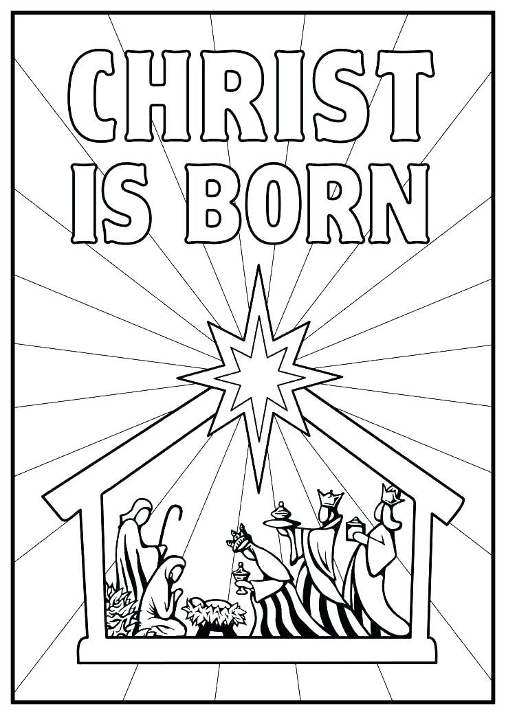 736x1041 Birth Of Jesus Coloring Pages Free Baby Coloring Page Baby