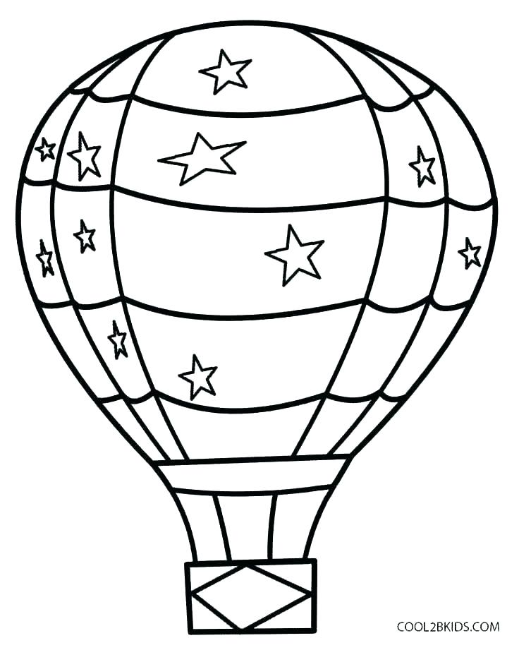 736x921 Balloons Coloring Page Balloon Coloring Pages Printable Hot Air