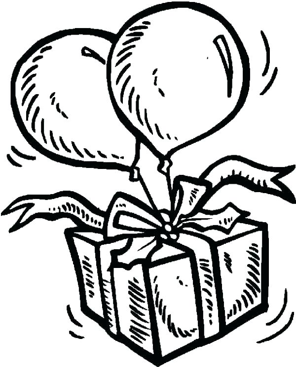 600x745 Balloons Coloring Page Birthday Party Balloon Coloring Page Sky
