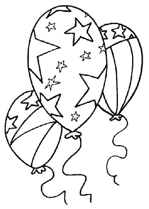 485x680 Birthday Balloons Coloring Pages Printable Coloring Of Balloons