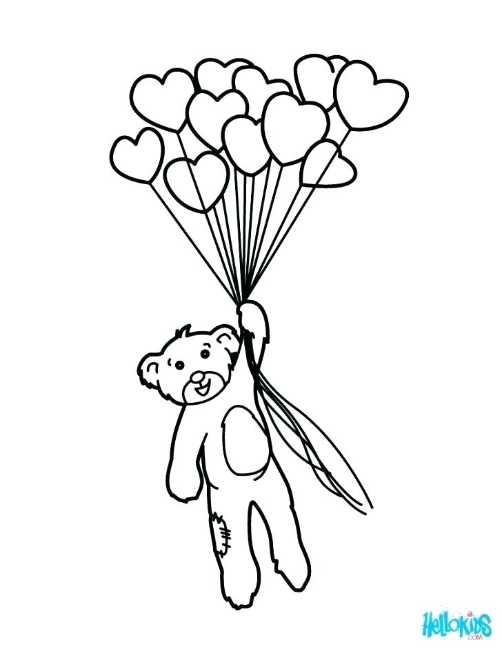 728x941 Coloring Pages Balloons Happy Birthday Balloons Coloring Pages