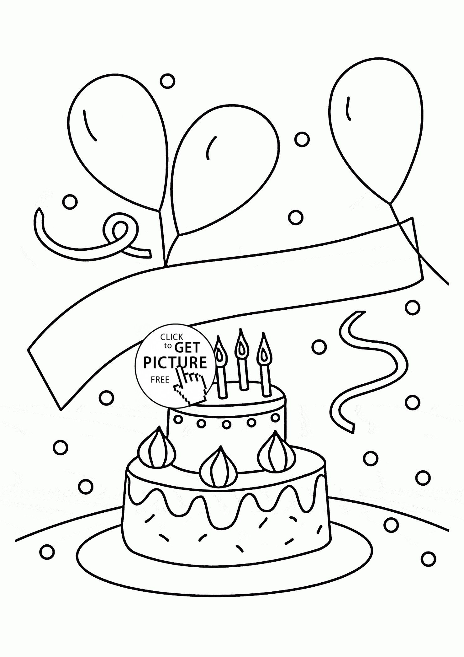 1480x2094 Coloring Pictures Of Birthday Balloons Best Of Birthday Cake