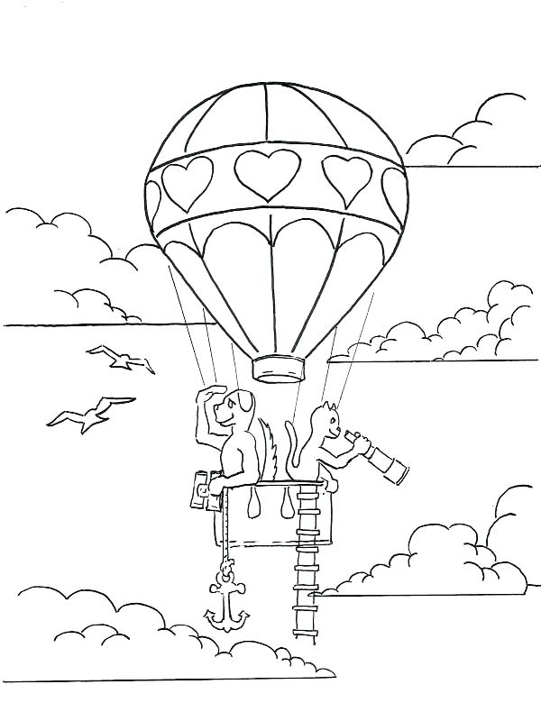 600x800 Hot Air Balloon Coloring Page Balloon Coloring Pages Drawn Hot Air