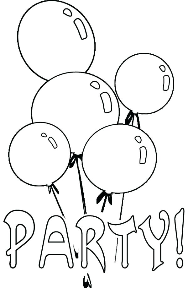 600x917 Balloon Coloring Page S Birthday Balloon Coloring Pages