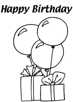 252x350 Balloon Coloring Pages
