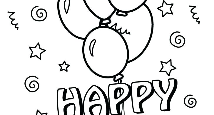 728x393 Balloon Coloring Pages