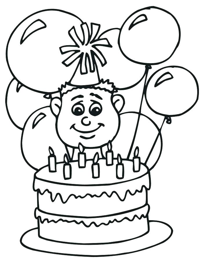 700x894 Birthday Balloons Coloring Pages