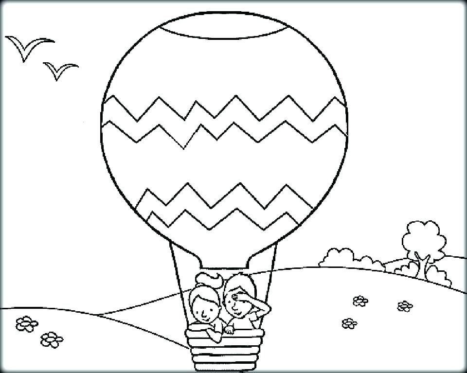 960x767 Balloon Coloring Pages Awesome Balloon Coloring Pages Print Hot