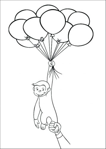 357x500 Coloring Pages Balloon Coloring Pages Best Hot Air And Birthday