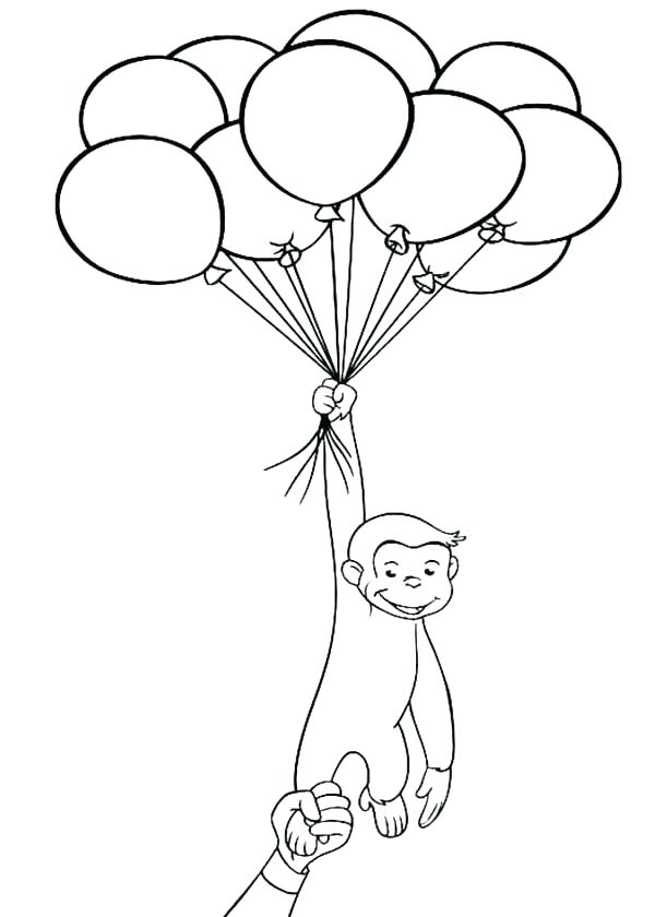 600x840 Balloon Coloring Pages Beautiful Balloon Coloring Page Print Pages